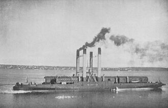 Mulgrave, Nova Scotia - The Scotia rail ferry on the Strait of Canso around the turn of the twentieth century