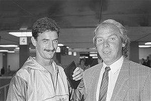 Ian Rush - Ian Rush with Wales's coach Terry Yorath, September 1988
