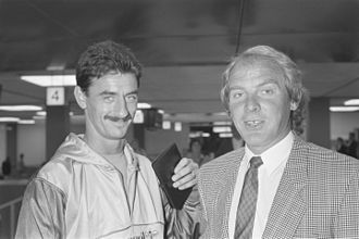Ian Rush - Ian Rush with Wales's coach Terry Yorath, September 1988