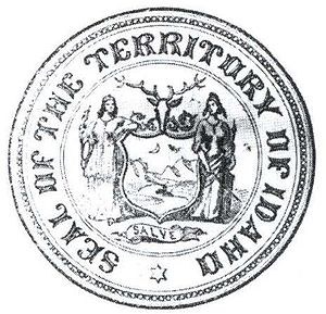 Flag and seal of Idaho - Image: Idahoterritoryseal 1866