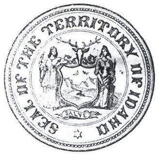 Flag and seal of Idaho - Image: Idahoterritoryseal 1866