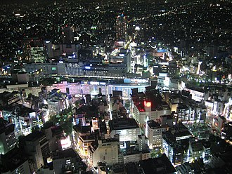 Ikebukuro - Ikebukuro Station as seen from the Sunshine 60 building