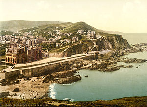 History of Ilfracombe - Photochrom of Ilfracombe, 1890s