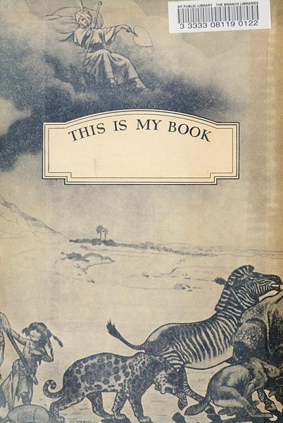 File:Illustration 1 at inside cover of Just So Stories (c1912).jpg