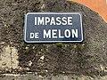 Impasse de Melon (Belley), panneau de rue.jpg