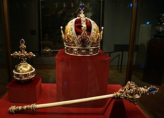 Austrian Crown Jewels - Imperial Orb, Crown, and Sceptre of Austria
