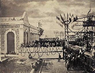 Chemins de fer du Midi - Inauguration of the Bordeaux-Sète line on April 2, 1857 at Toulouse-Matabiau station.