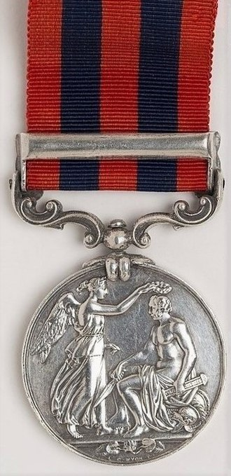 India General Service Medal (1854) - Image: India General Service Medal 1854 94, Reverse