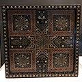 India Gujarat or Sindh 16th C - game board of wood ivory metal IMG 9503 Museum of Asian Civilisation.jpg
