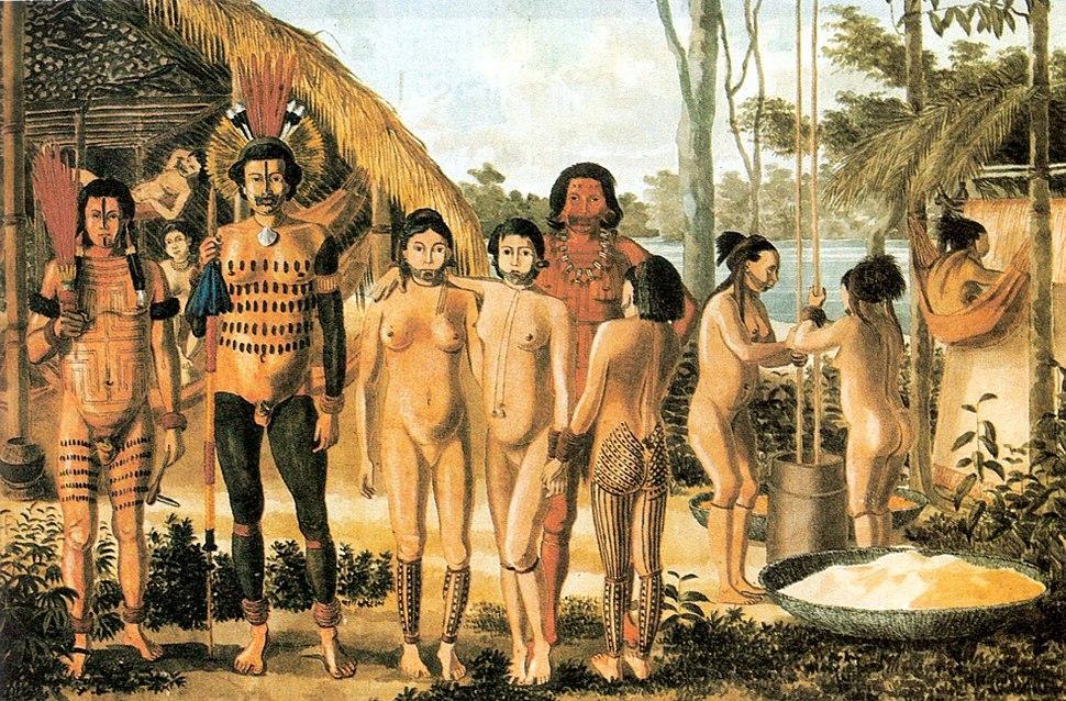 Indios apiaka no rio Arinos