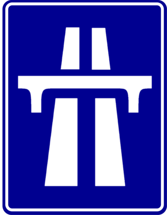 Jakarta–Serpong Toll Road - Image: Indonesia New Road Sign Info 4a
