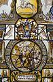 Interieur, glas-in-loodpaneel met gebrandschilderd glas, detail - Doorn - 20362546 - RCE.jpg