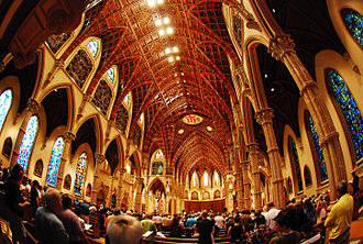 Holy Name Cathedral (Chicago) - Interior shot taken on August 1, 2009