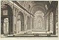 Interior view of St. Peter's Basilica in the Vatican, from Vedute di Roma (Roman Views) MET DP828207.jpg