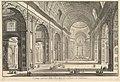 Interior view of St. Peter's Basilica in the Vatican, from Vedute di Roma (Roman Views) MET DP828218.jpg