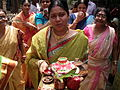 Inviting Goddess Ganga - Hindu Sacred Thread Ceremony - Simurali 2009-04-05 4050047.JPG