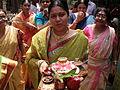 Inviting Goddess Ganga - Hindu Sacred Thread Ceremony - Simurali 2009-04-05 4050047.JPG
