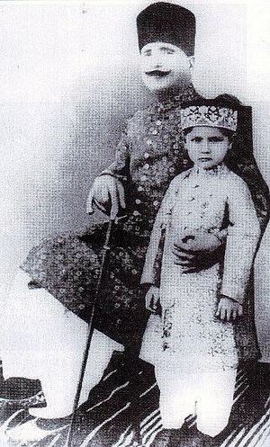 Muhammad Iqbal - Allama Iqbal with his son Javed Iqbal in 1930