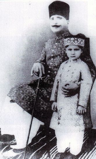 Muhammad Iqbal - Allama Iqbal with his son Javed Iqbal in 1930