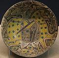 Iran orientale (prob. nishapur), ciotola con cavaliere, 900-1000.JPG