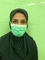 Iranian surgical technologist with hijab 01.jpg