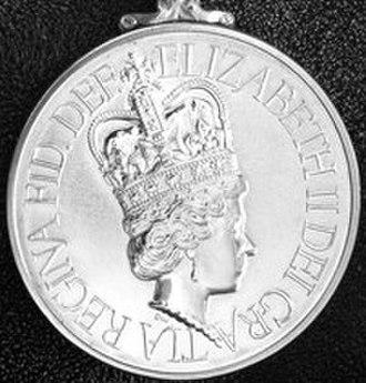 Iraq Medal (United Kingdom) - Image: Iraq Medal obv