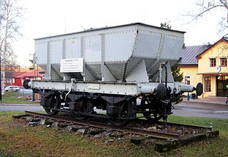 Hopper car - Swedish iron ore hopper (mineral wagon), built in 1900
