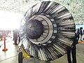 Ishikawajima-Harima F100-IHI-100 turbofan engine exhaust nozzle left behind view at JASDF Gifu Air Base November 27, 2011.jpg