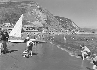 Island Bay, New Zealand - Island Bay beach, date unknown
