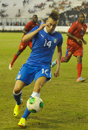Stephan El Shaarawy - El Shaarawy playing for Italy against Haiti in 2013