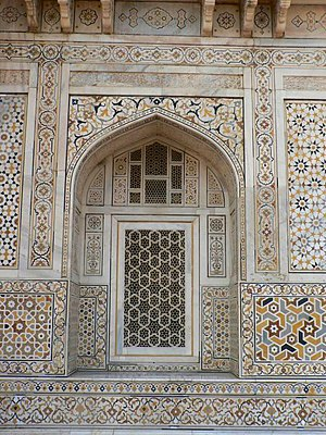 Ernest Hanbury Hankin - The decorations of Itmad-Ud-Daulah that Hankin studied in The Drawing of Geometric Patterns in Saracenic Art