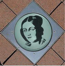 Tafelfoto Johanna Kinkels in der Bonngasse in Bonn. (Quelle: Wikimedia)