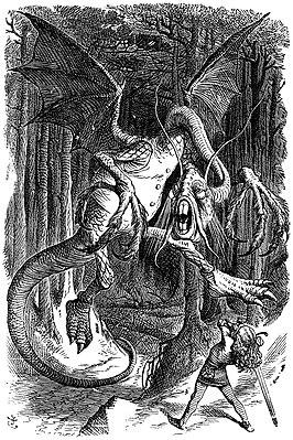 https://upload.wikimedia.org/wikipedia/commons/thumb/d/d0/Jabberwocky.jpg/266px-Jabberwocky.jpg