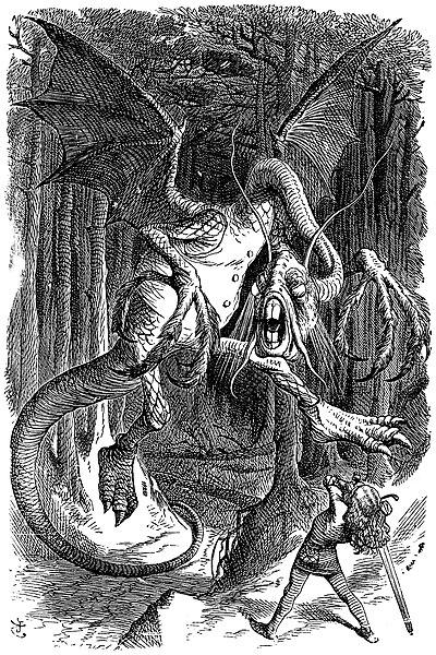 The Jabberwock, as illustrated by John Tenniel