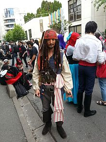 Un cosplayer de Jack Sparrow lors de la convention Epita 2013