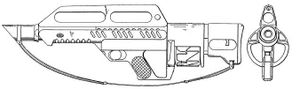 A diagram of the firearm
