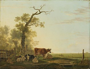 Meadow Landscape with Animals