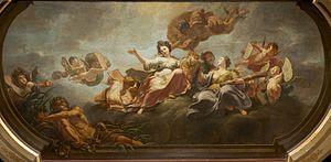 Jacques Ignatius de Roore - Mercury and Ceres urge Scaldis to wake Antwerpia