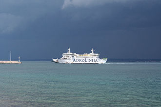 D407 road - Zadar-Preko ferry