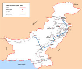 Jaffar Express route map