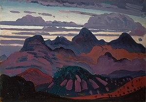 James Dickson Innes - Deep Twilight, Pyrenees (1912 or 1913)
