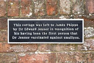 James Phipps - Image: James Phipps' Cottage plaque