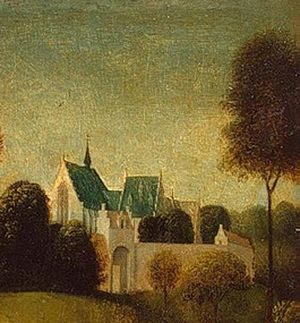 Janskerk, Haarlem - The Janskerk from the southwest in a painting by Geertgen tot Sint Jans.