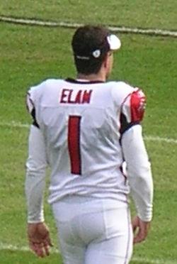 Jason Elam pregame at Falcons at Raiders 11-2-08.JPG