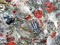 Jasper-quartz pebble conglomerate (Lorrain Formation, Paleoproterozoic, ~2.3 Ga; Ottertail Lake Northeast roadcut, near Bruce Mines, Ontario, Canada) 41 (46793305205).jpg