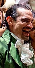 Javier Muñoz in Hamilton costume, July 2015.jpg