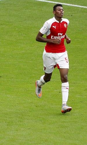 Jeff Reine-Adélaïde - Reine-Adélaïde playing for Arsenal in 2015