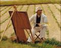 Jens Birkholm - Syberg maler sin ged, geden ses ikke på billedet - 1909.png