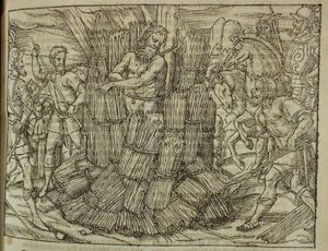 Jerome of Prague - The burning of Jerome of Prague, John Foxe's Book of Martyrs (1563)