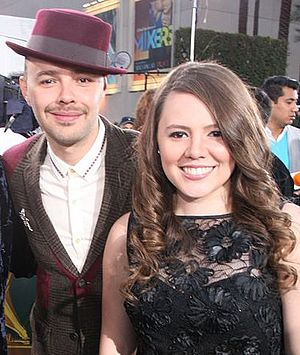 Jesse & Joy - Jesse (left) and Joy (right) at the 2012 Latin Grammy Awards
